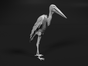 Marabou Stork 1:22 Standing in Smooth Fine Detail Plastic