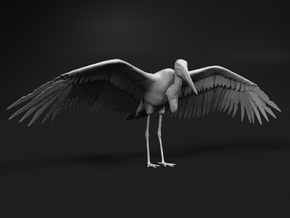 Marabou Stork 1:16 Wings Spread in Smooth Fine Detail Plastic