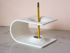 Einstein-Rosen Bridge (Wormhole) Pencil Holder in White Natural Versatile Plastic: Large