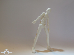 U-man in White Processed Versatile Plastic