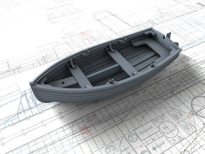 1/72 Scale Allied 10ft Dinghy with Rudder in Smooth Fine Detail Plastic