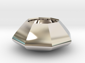 Sugar bowl - Circular to octagonal shape (only bow in Platinum