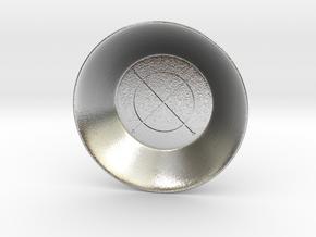 Seal of Jupiter Charging Bowl (small) in Natural Silver