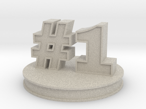number 1 ( #1 ) miniature in Natural Sandstone