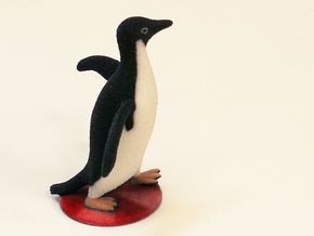 Socially Awesome Penguin in Full Color Sandstone