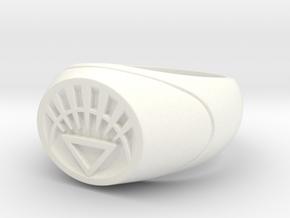 22.2 mm White Lantern Ring - WotGL in White Strong & Flexible Polished