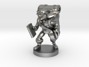 Goblin Book Merchant in Natural Silver