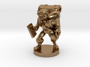 Goblin Book Merchant in Natural Brass