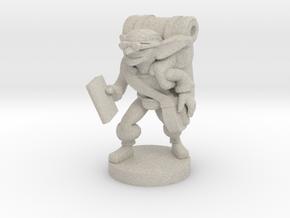 Goblin Book Merchant in Natural Sandstone