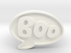 Boo Conversation Bubble Ring in White Processed Versatile Plastic: 12 / 66.5