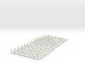 DiceMasters tray 6x6 - Mk I in White Natural Versatile Plastic