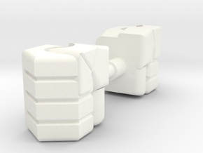 2x G1 Optimus Prime Fists in White Processed Versatile Plastic