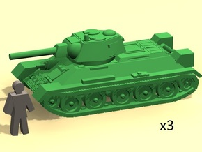 6mm Tank T-34 in Smoothest Fine Detail Plastic