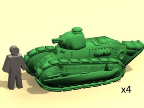 6mm WW1 Renault tank in Smoothest Fine Detail Plastic