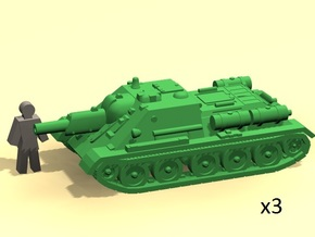 6mm SU-122 SPG in Smoothest Fine Detail Plastic