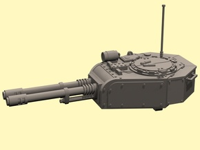 28mm tank turret automatic cannons in White Processed Versatile Plastic