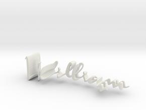 3dWordFlip: William/Nicole in White Natural Versatile Plastic