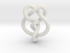 Miller institute knot (Circle) in White Natural Versatile Plastic: Extra Small