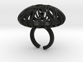 Mandala Brain in Black Natural Versatile Plastic
