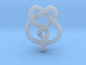 Miller institute knot (Rope with detail) in Smooth Fine Detail Plastic: Extra Small