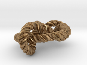 Miller institute knot (Rope with detail) in Natural Brass: Medium