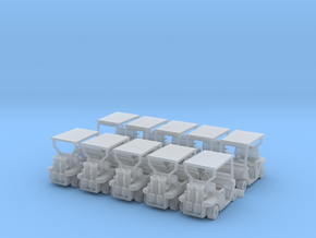 TT/1:120 Golf cart x10 in Smooth Fine Detail Plastic