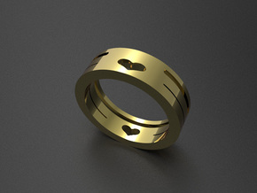 heart ring in 14K Yellow Gold: 7 / 54