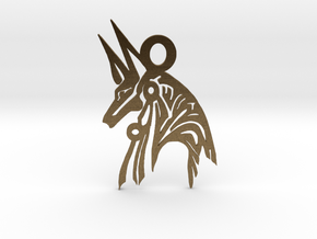 Anubis - Amulet - Abstract in Natural Bronze
