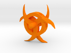 Biohazard d6 in Orange Processed Versatile Plastic