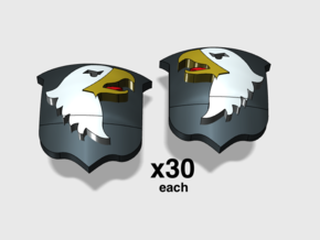 60x Screaming Eagles: Shoulder Insignia pack in Smoothest Fine Detail Plastic