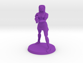Claudia Zombie Hunter in Purple Processed Versatile Plastic