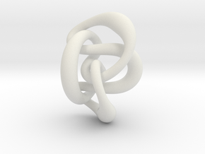 Knot 8₂₀ (Circle)  in White Natural Versatile Plastic: Extra Small
