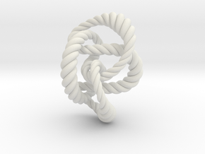 Knot 8₂₀ (Rope)  in White Natural Versatile Plastic: Extra Small