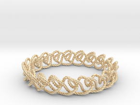 Chain stitch knot bracelet (Rope) in 14k Gold Plated Brass: Extra Small