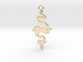 FDragon Pendant in 14k Gold Plated Brass