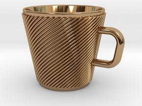 Espresso Cup - Precious metals in Polished Brass