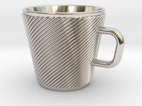 Espresso Cup - Precious metals in Rhodium Plated Brass