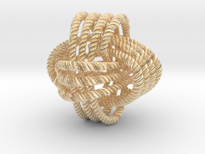 Monkey's fist knot (Rope with detail) in 14K Yellow Gold: Large