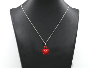 Heart Amulet Abstract in Red Strong & Flexible Polished