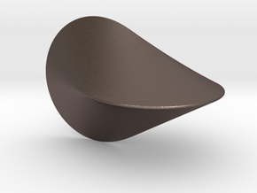 The Oloid: a mathematically perfect piece of art in Polished Bronzed Silver Steel