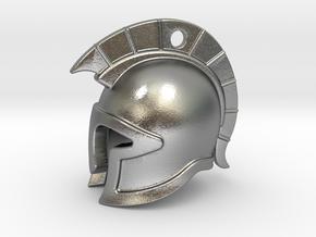 spartan helmet in Natural Silver