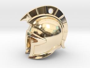 spartan helmet in 14K Yellow Gold