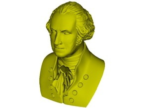 1/9 scale George Washington president of USA bust in Smooth Fine Detail Plastic