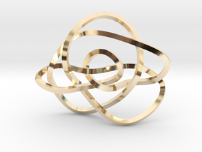 Ochiai unknot (Square) in 14k Gold Plated Brass: Extra Small