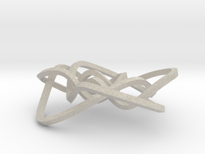 Ochiai unknot (Square) in Natural Sandstone: Medium