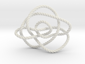 Ochiai unknot (Rope) in White Natural Versatile Plastic: Extra Small
