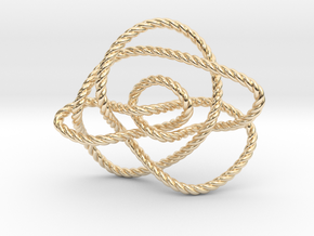 Ochiai unknot (Rope) in 14K Yellow Gold: Extra Small