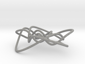 Ochiai unknot (Rope with detail) in Aluminum: Small