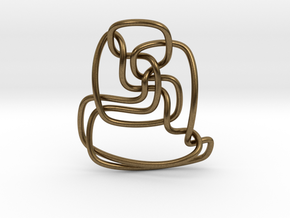 Thistlethwaite unknot (Circle) in Natural Bronze: Extra Small