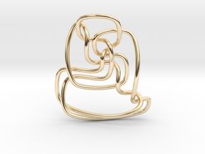 Thistlethwaite unknot (Circle) in 14K Yellow Gold: Extra Small
